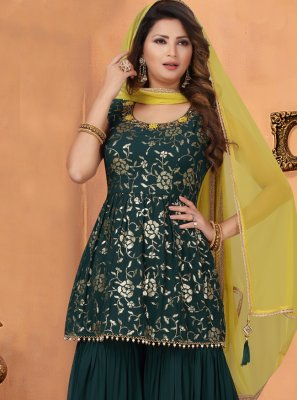 Green Georgette Bollywood Salwar Kameez