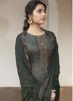 Green Handwork Designer Pakistani Suit