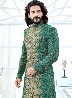 Green Handwork Indo Western