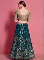Green Lace A Line Lehenga Choli
