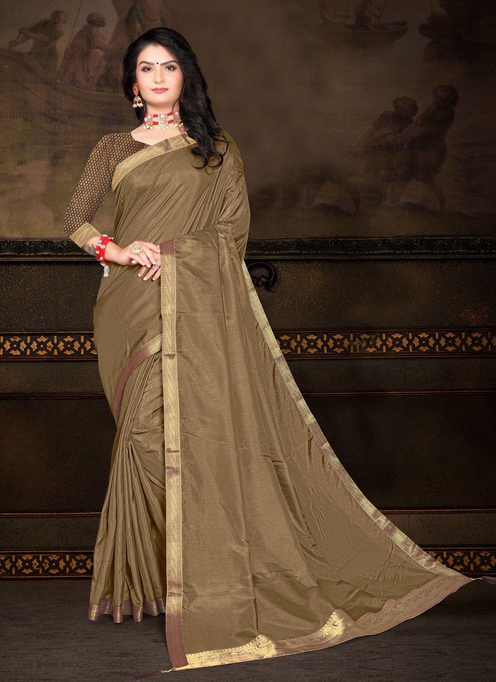Green Lace Classic Saree