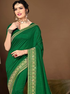 Green Lace Traditional Designer Saree