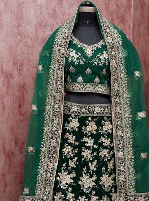 Green Mehndi Lehenga Choli