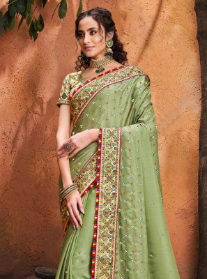 Green Mirror Classic Saree