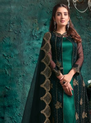 Green Net Designer Pakistani Suit