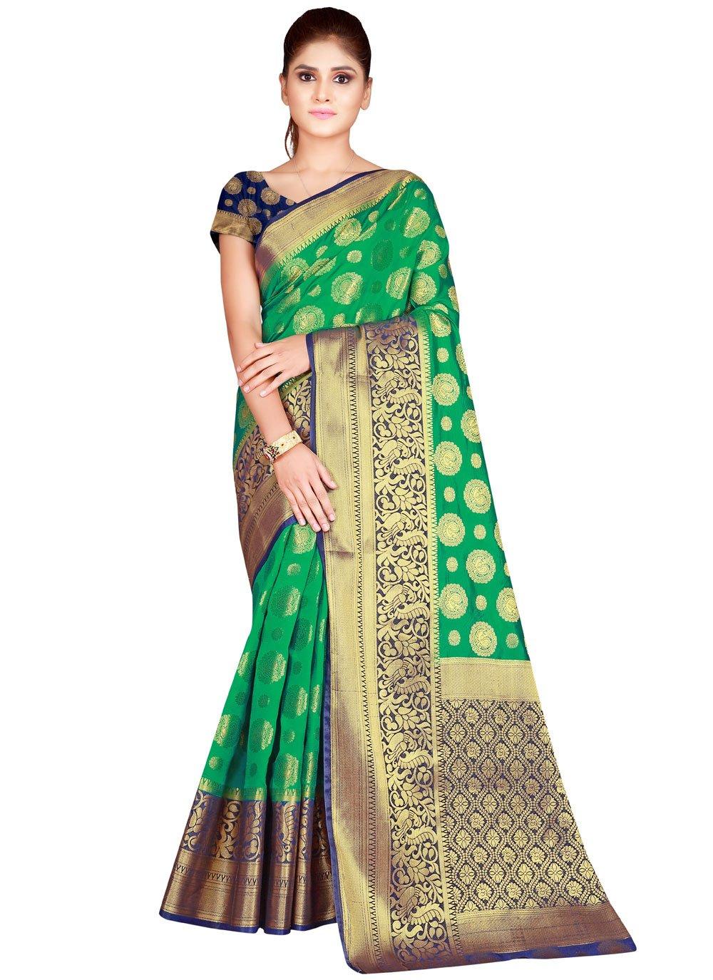 Green Nylon Bollywood Saree