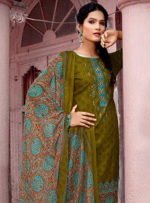 Green Party Cotton Designer Pakistani Suit