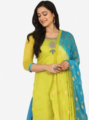 Green Party Patiala Suit