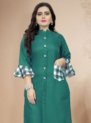 Green Party Wear Kurti
