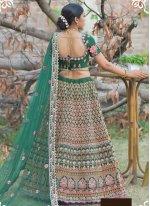 Green Pashnima Silk Mehndi Lehenga Choli