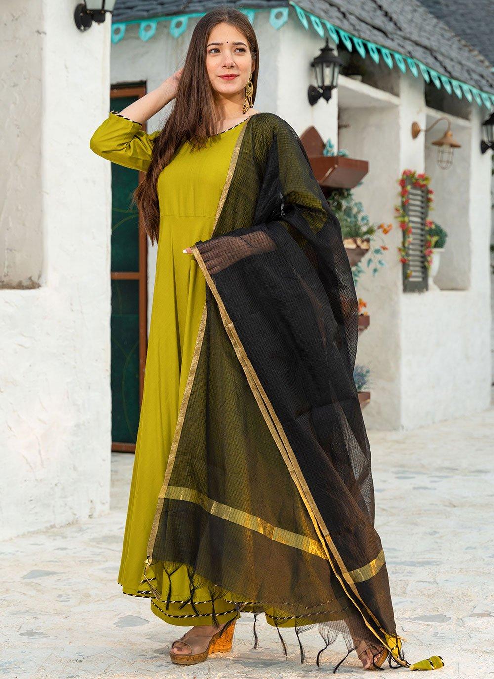Green Rayon Fancy Designer Suit