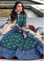 Green Readymade Anarkali Suit