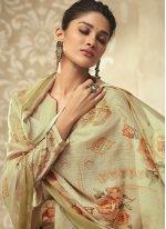 Green Satin Silk Designer Palazzo Suit