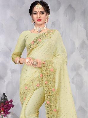 Green Sequins Classic Saree