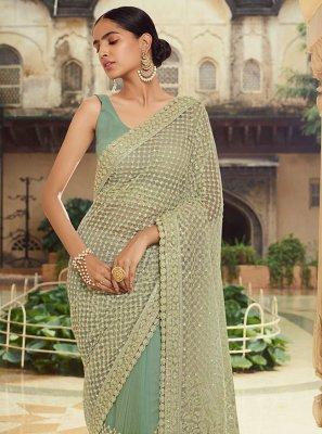 Green Sequins Sangeet Trendy Saree