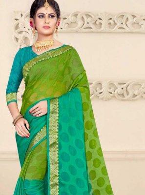 Green Shaded Saree
