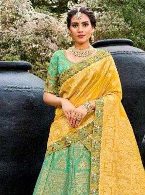 Green Silk Bollywood Lehenga Choli