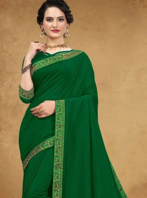 Green Silk Casual Classic Saree