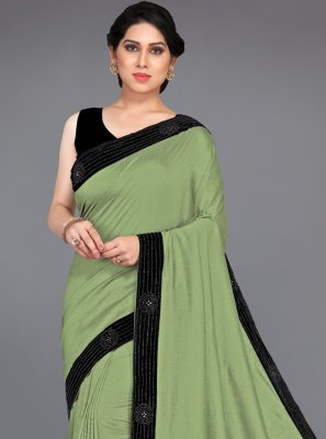 Green Silk Designer Traditional Saree