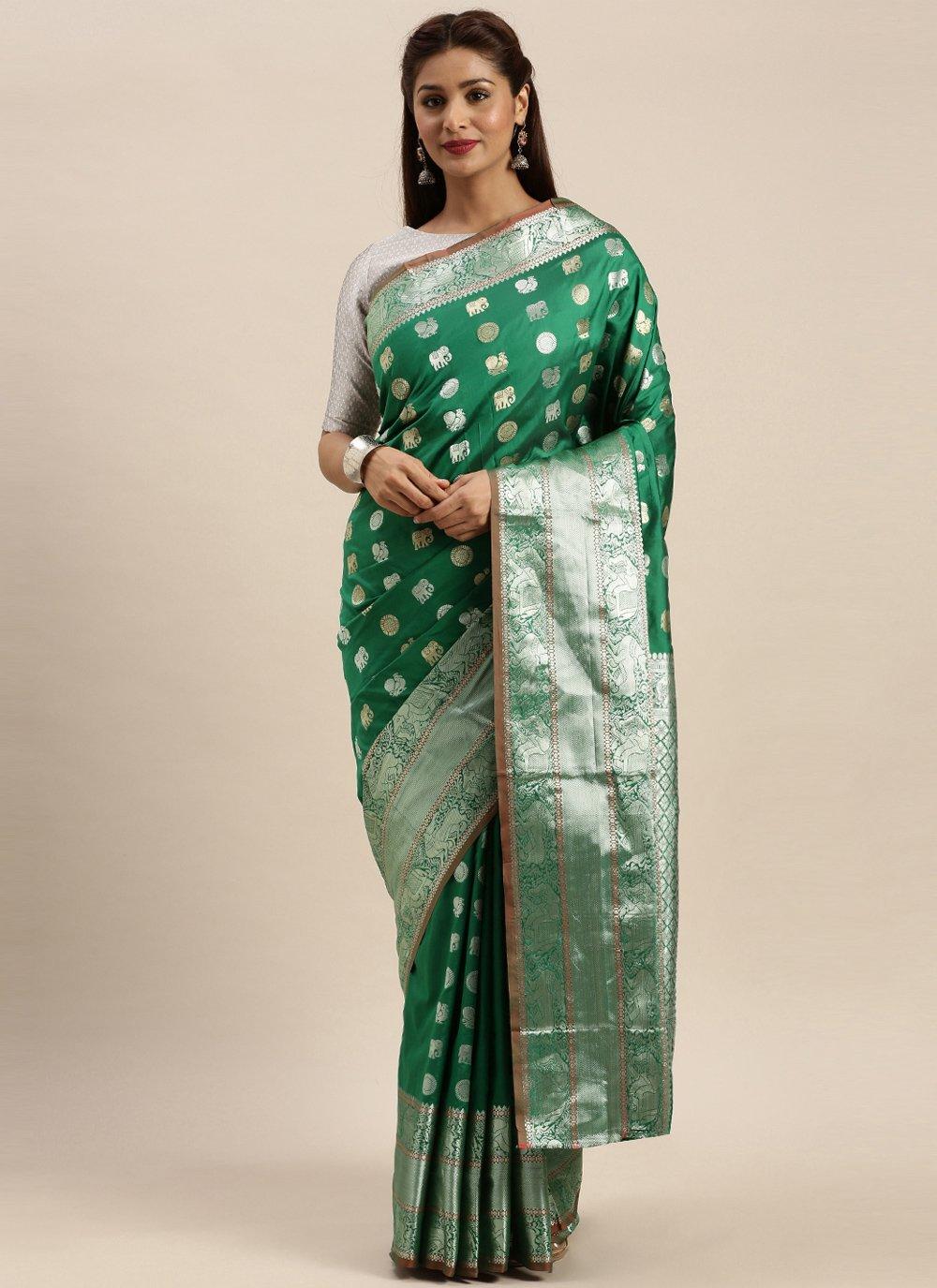 Green Silk Designer Traditional Saree