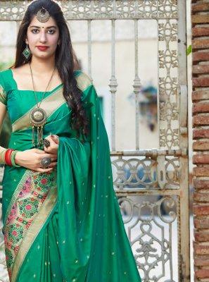 Green Silk Festival Designer Traditional Saree
