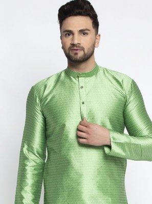 Green Silk Kurta