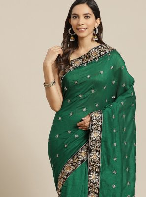 Green Silk Traditional Designer Saree