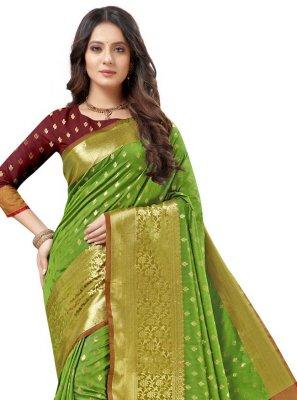Green Silk Traditional Saree
