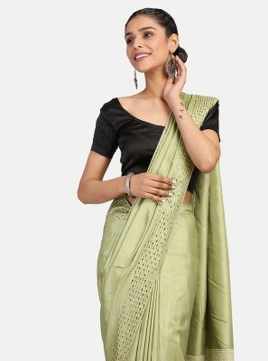 Green Stone Work Classic Designer Saree