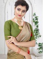 Green Swarovski Festival Shaded Saree