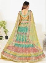 Green Thread Georgette Trendy Lehenga Choli