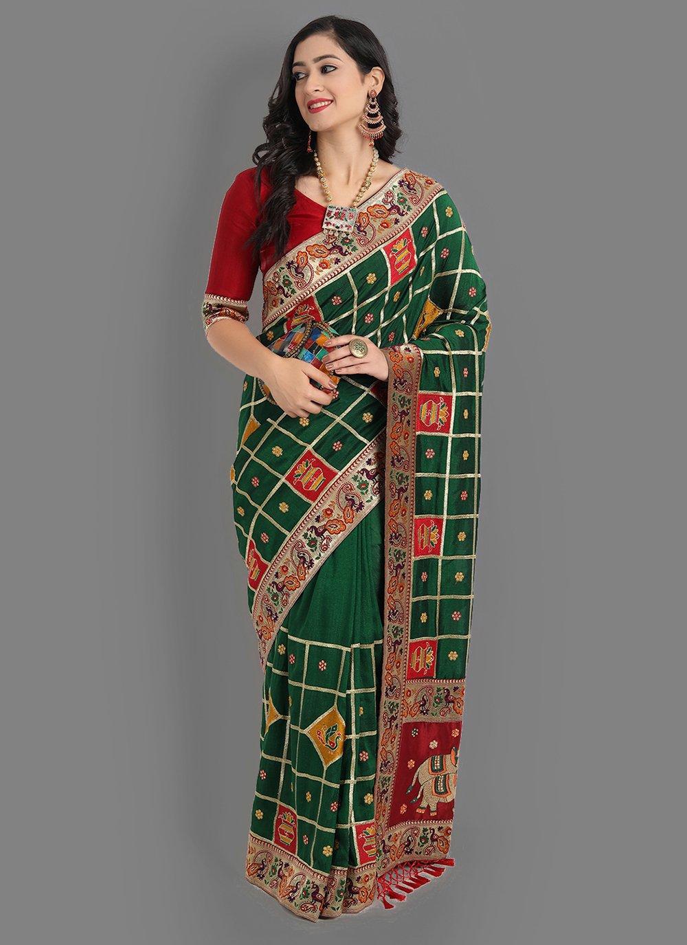 Green Traditional Saree
