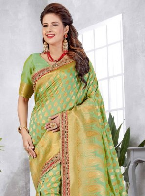 Green Weaving Art Silk Designer Traditional Saree