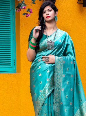 Green Weaving Banarasi Silk Designer Traditional Saree