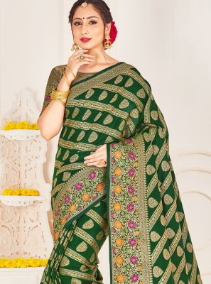 Green Woven Festival Designer Traditional Saree