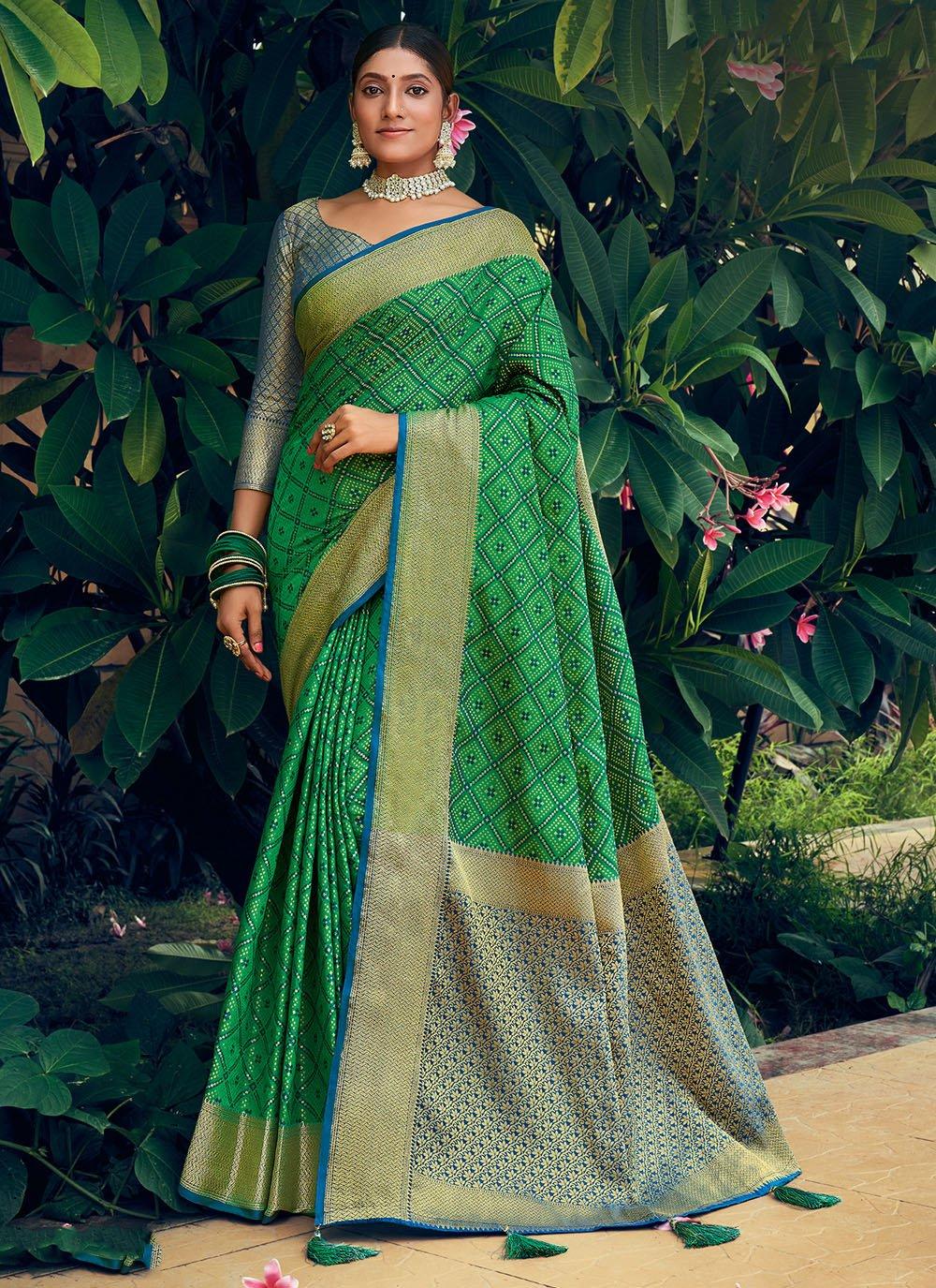Green Woven Reception Traditional Saree