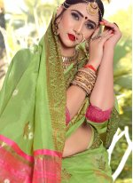 Green Woven Traditional Saree