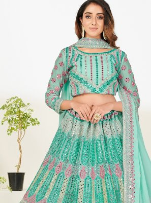 Green Zari Ceremonial Designer Lehenga Choli