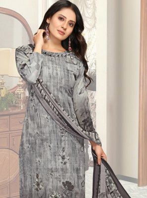 Grey Casual Pant Style Suit