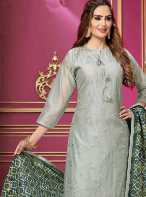 Grey Ceremonial Bollywood Salwar Kameez