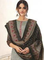 Grey Ceremonial Designer Salwar Kameez