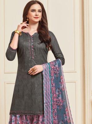 Grey Color Designer Patiala Suit