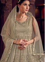 Grey Color Designer Salwar Suit