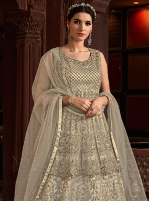 Grey Color Designer Salwar Suit