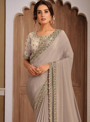 Grey Designer Traditional Saree
