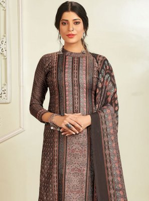 Grey Digital Print Designer Pakistani Salwar Suit