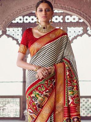Grey Fancy Classic Designer Saree
