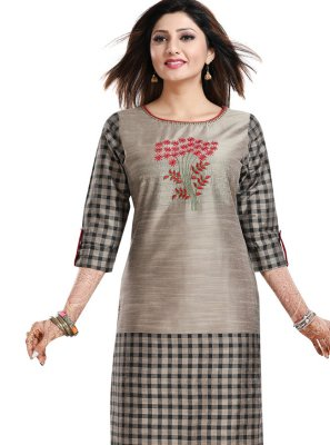 Grey Fancy Festival Party Wear Kurti
