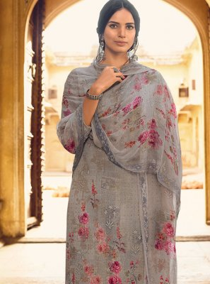 Grey Festival Designer Pakistani Salwar Suit