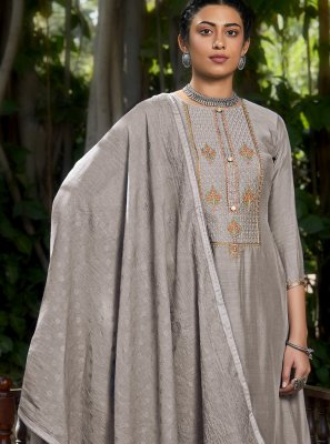 Grey Festival Designer Pakistani Suit